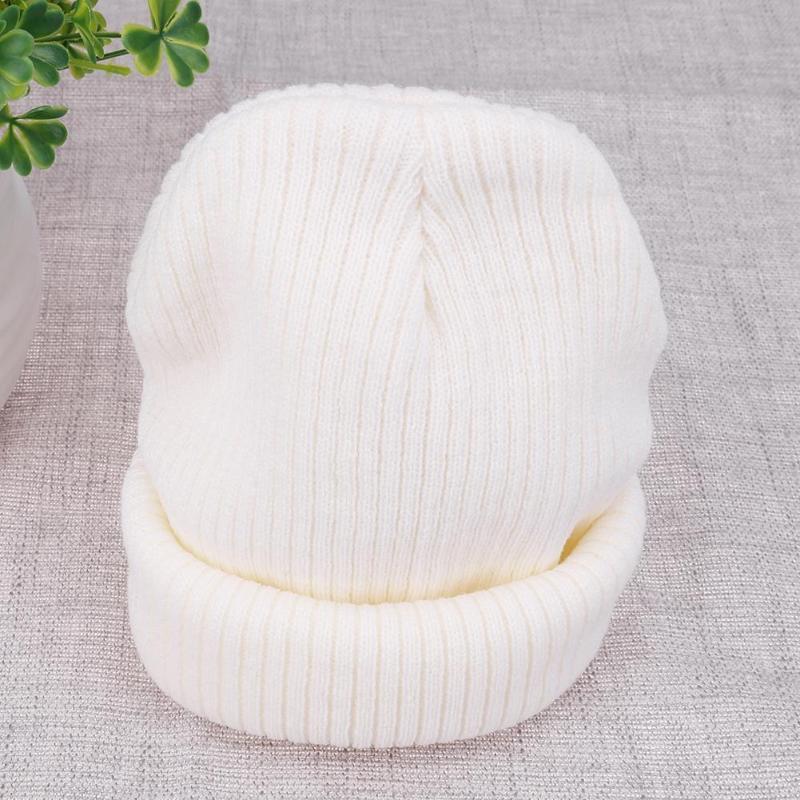 Autumn Winter New Soft Knitted Hat Women Cap Women's Cotton   Skullies   &   Beanies   Plain Cornice Hats Female Solid Bonnet