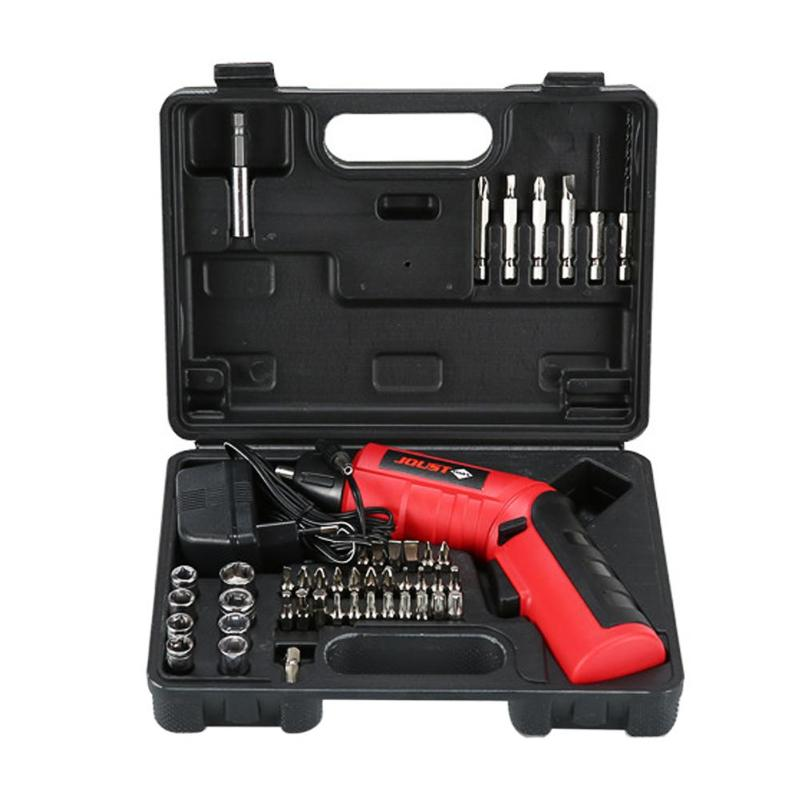 High Quality 4.8V Multi-function Cordless LED Light Rechargeable Electric Screwdriver Set Household Drill Power Tools EU Plug