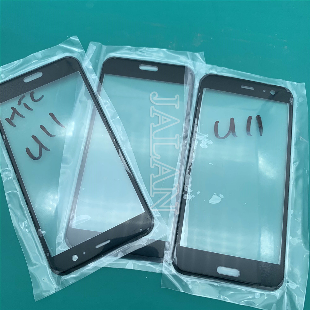 Front glassl For HTC U11 cracked glass change repair outer glass lens for U11 curved glass