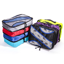 QIUYIN New Breathable Travel Bag 5 Set Packing Cubes Luggage Organizers Weekend Shoe Fit 23 Carry on Suitcase