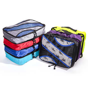 """QIUYIN New Breathable Travel Bag 5 Set Packing Cubes Luggage Packing Organizers Weekend Bag Shoe Bag Fit 23\"""" Carry on Suitcase - Category 🛒 Luggage & Bags"""