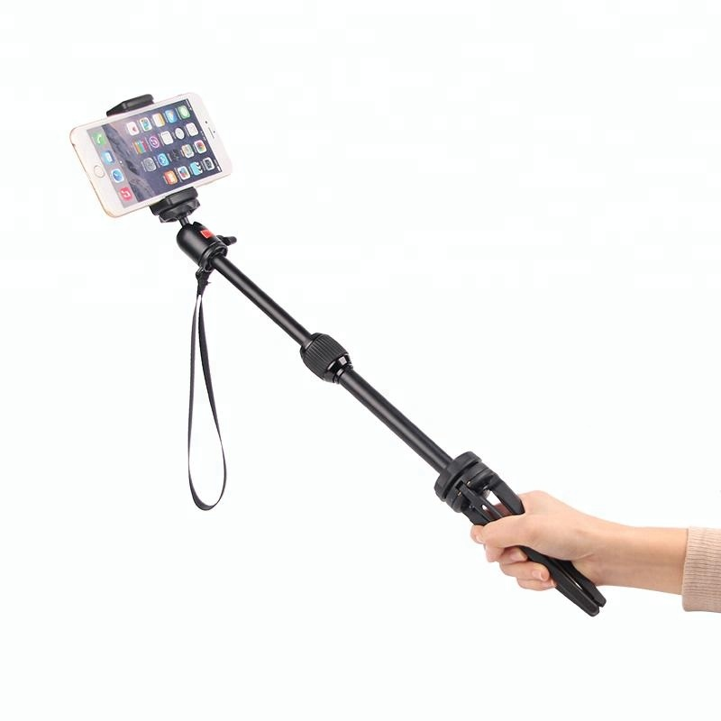 Hot Sale M5S Portable Outdoor Aluminum Compact Selfie Sticks Mini Table Tripod Extended Cellphone Camera Self Stick Tripods