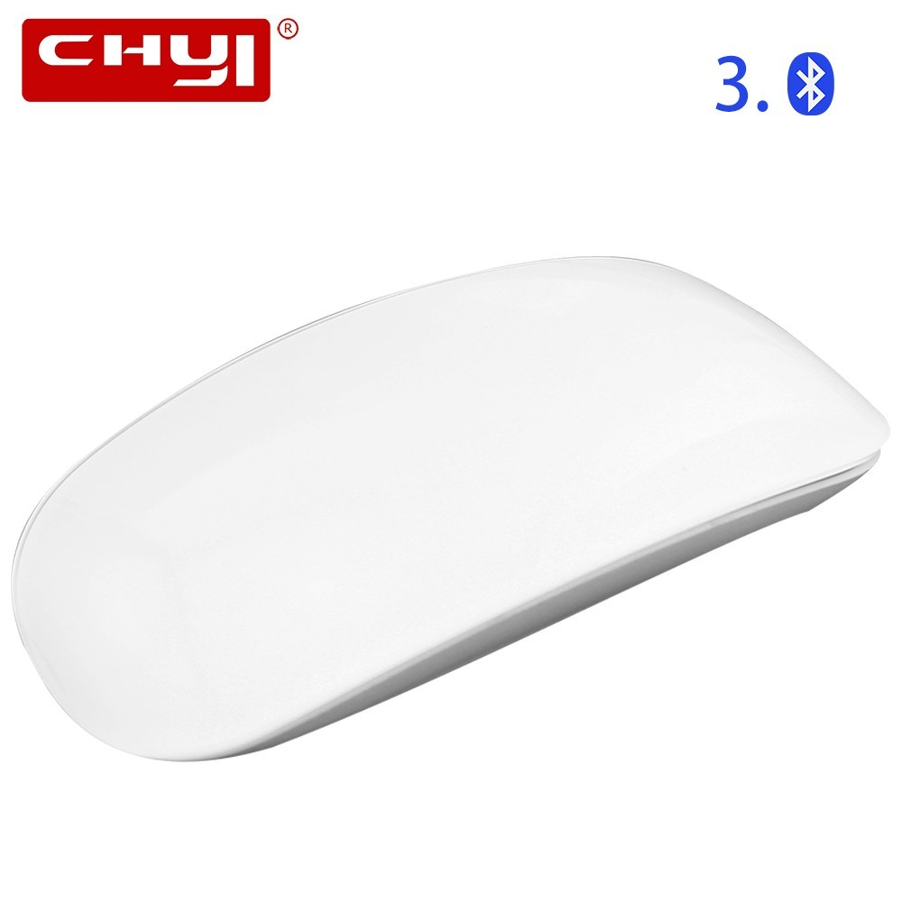 CHYI Bluetooth Wireless Magic Mouse Ultra Thin Touch Ergonomic Optical Mice Office Computer Mause White For Apple Macbook Laptop