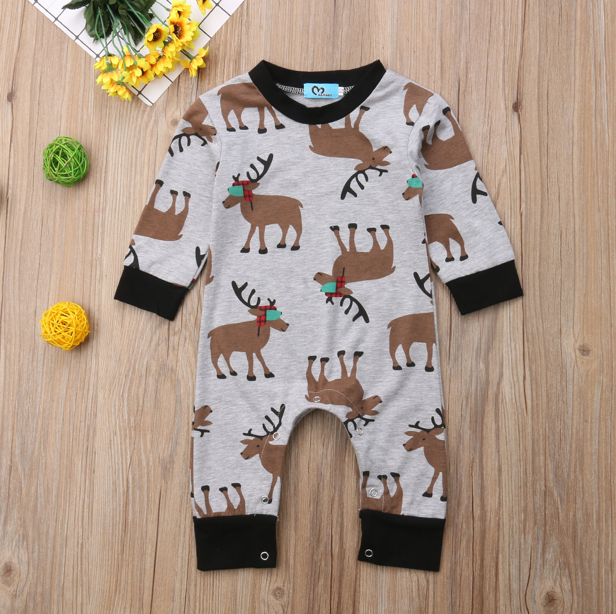 Rompers Bodysuits & One-pieces Newborn Baby Girl Boy Long Sleeve Cartoon Print Romper Jumpsuit Pajamas Outfits Overalls Childrens Winter For Newborns @35