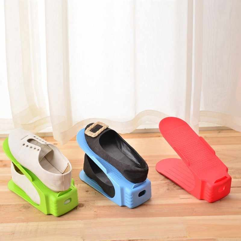 6 Colours self-contained Plastic Shoe Hanger Modern Convenient Shoemaker Organizer Of Shoes Storage Rack Shelving Living Room