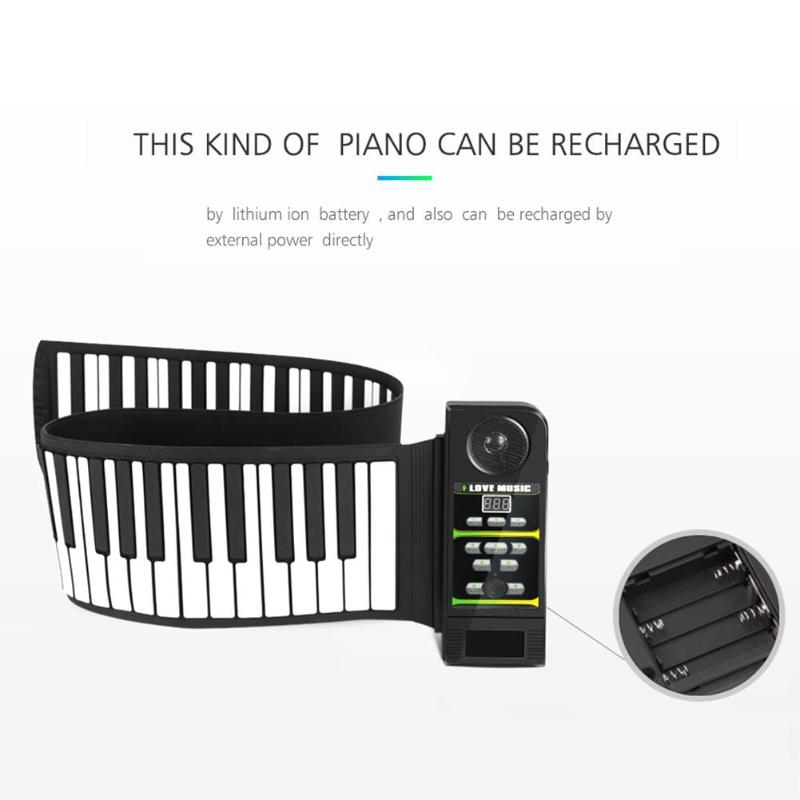 Image 3 - Portable 49/88 Keys Roll Up Piano Flexible Silicone Roll Up Folding Piano Keyboard for Child Student Musical Instruments-in Piano from Sports & Entertainment