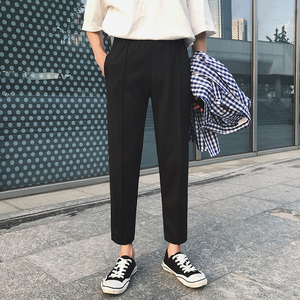 Image 1 - Pantalones informales de algodón suave para hombre, Pantalón moderno, ajustado, cómodo, Color blanco/Negro, talla grande, M 3XL, 2020