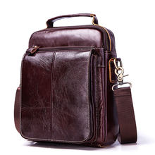 2019 New Messenger Bag Men's Genuine Leather Men Bag Messenger Shoulder Bags Small man Crossbody Bags for men leather handbags(China)
