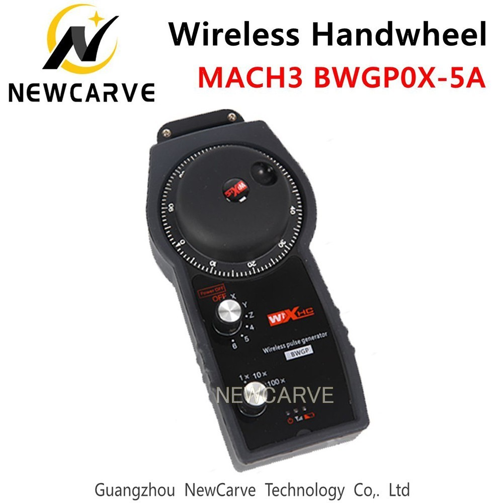 Siemens/ Mitsubishi/ Syntec/ Gskcnc Mach3 System Control Wireless Controller For CNC Handwheel BWGP0X 5A NEWCARVE