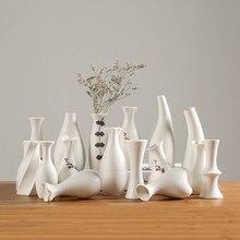Moderne Weiß Keramik Vase Chinesischen Stil Einfache Entwickelt Keramik Und Porzellan Vasen Für Künstliche Blumen Dekorative Figuren