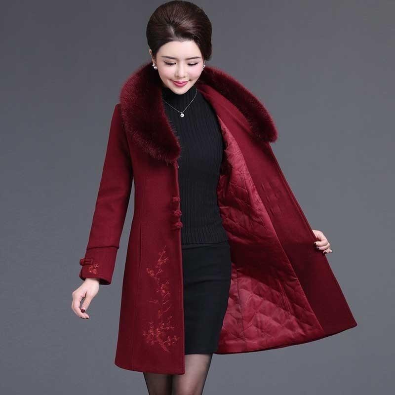 Alta Cappotto Qualità Cardigan red Pelliccia Di Vendita Inverno Blue  Cachemire photo Lunghi Giubbotti Color Grande ... ea6da54a486