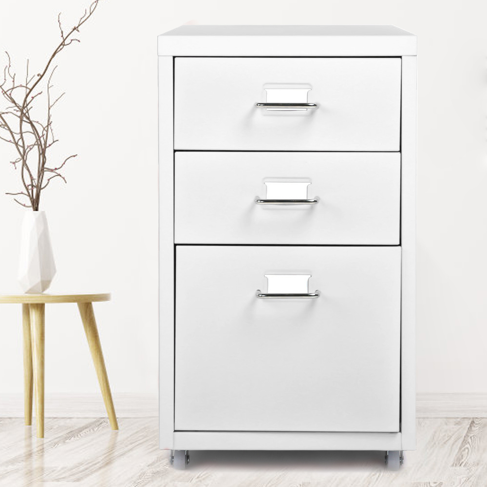 Filing Cabinet Living-Room Drawer 4-Casters Bedroom Steel Metal Detachable Mobile