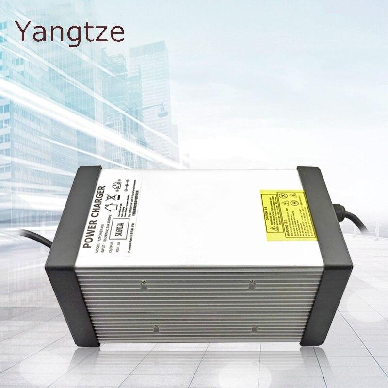 Yangtze AAA АА литиевая батарея зарядное устройство 63 в 12A 11A 10A 9A Chargeur Мощное зарядное устройство 55,5 в для автомобиля батарея E bike li ion