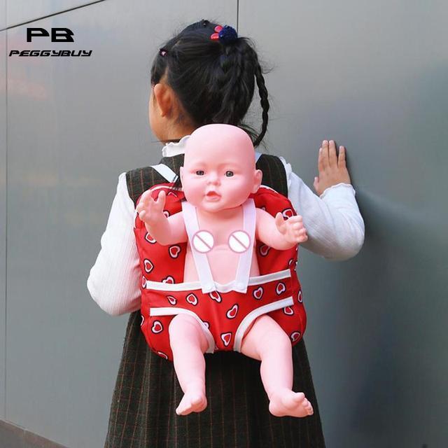 Baby Doll de Saída Ao Ar Livre Mochila de Transporte para 43 cm/18 polegada Pacotes de Bonecas Menina Boneca Roupas Mochila Brinquedo plecak bagpack mochil