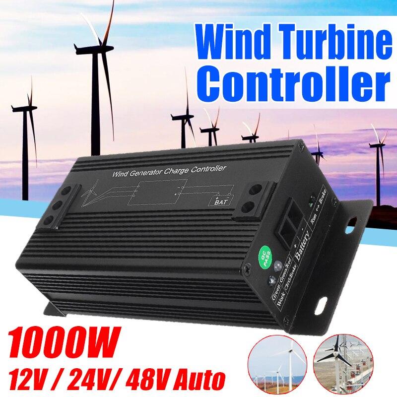 Лучшая цена 1000 Вт 48 в генератор для ветряных турбин Контроллер заряда Регулятор водостойкий открытый контроллер ветрогенератора