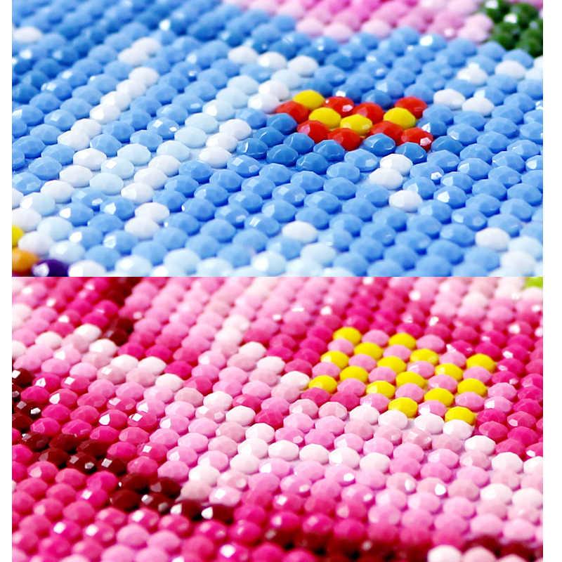 Kit de pintura de diamante, animal para casa, personagem de paisagem, 5d, ponto cruz, ctitch, adesivo de parede padrão, mosaico, diamante, pintura bordada