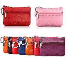 2019 Women Men Faux Leather Coin Card Purse Wallet Clutch Zip Small Change Soft Bag