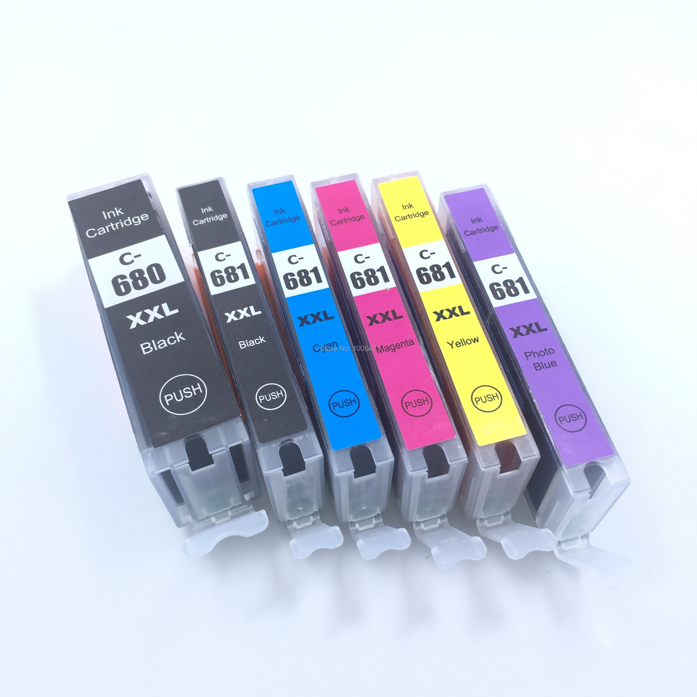 YOTAT Compatible PGI 680 CLI 681 Ink Cartridge PGI680 CLI681 For Canon PIXMA TR7560 TR8560 TS6160