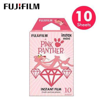 Baru Fujifilm 10 Lembar Instax Mini Pink Panther Instan Film Kertas Foto untuk Instax Mini 8 7 S 9 25 50 S 90 SP-1 SP-2 Kamera