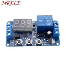 1Pcs/2Pcs/5Pcs New DC Timer Relay 12V Led Display Digital Delay Control Switch Module Plc Automation MKELE plc digital module dvp06sn11r do 6 relay new in box well tested working three months warranty