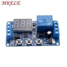 лучшая цена 1Pcs/2Pcs/5Pcs New DC Timer Relay 12V Led Display Digital Delay Control Switch Module Plc Automation MKELE