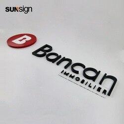 Logotipo personalizado de la empresa de letras del canal 3d de alta calidad para la pared