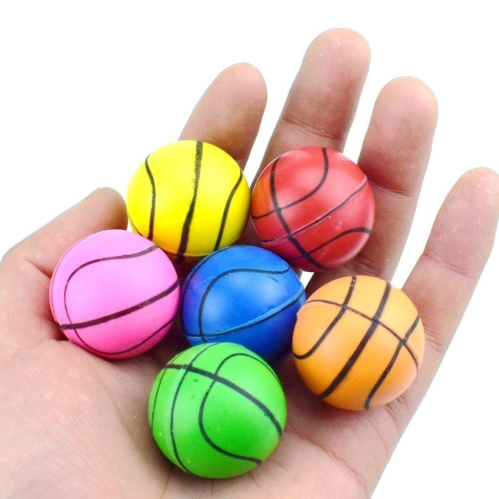 30mm Basketbal Elastische Kracht De Bal Kinderspeelgoed Springen Bal Ei Machine Special-purpose Ei Bal
