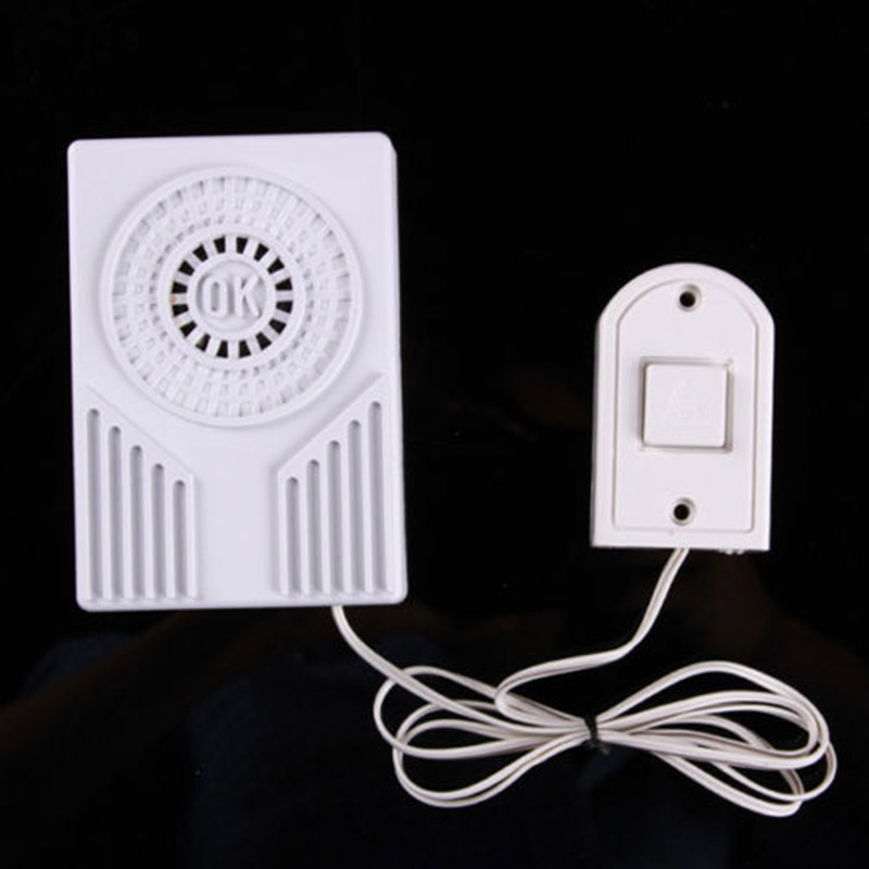 1*Battery Operate Mini Wired Doorbell Door Bell Loud Ding- Dong Sound White Home1*Battery Operate Mini Wired Doorbell Door Bell Loud Ding- Dong Sound White Home