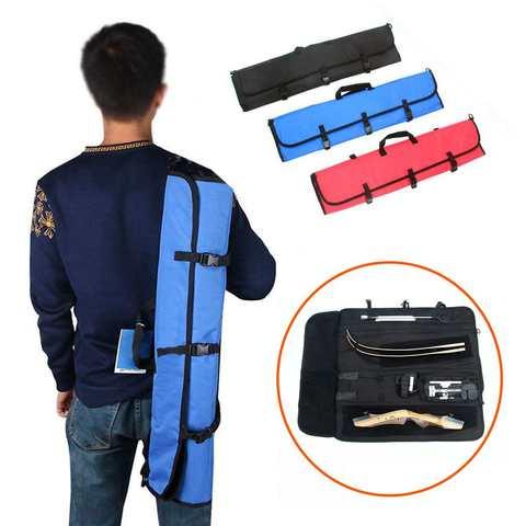 y saco de seta caca portatil takedown recurvo arco saco carry caso mochila alca ajustavel