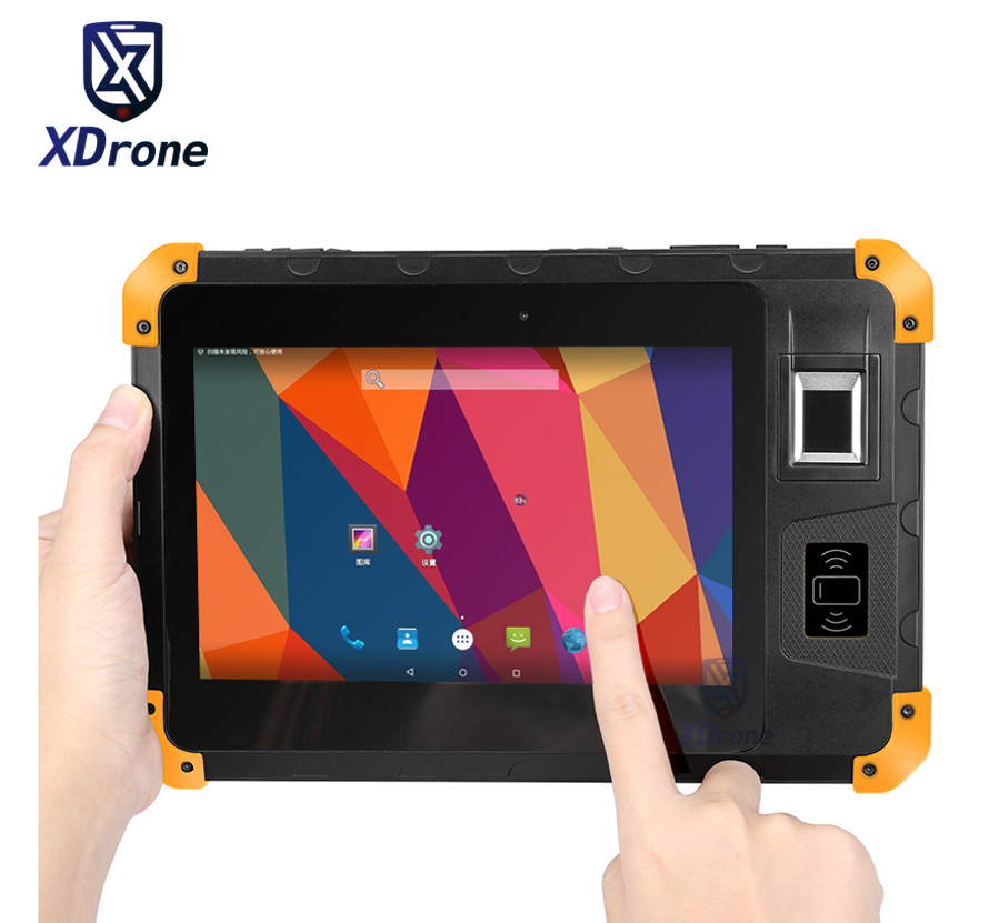 original K805 Rugged Android Tablet PC Waterproof Shockproof Fingerprint Reader UHF RFID 8