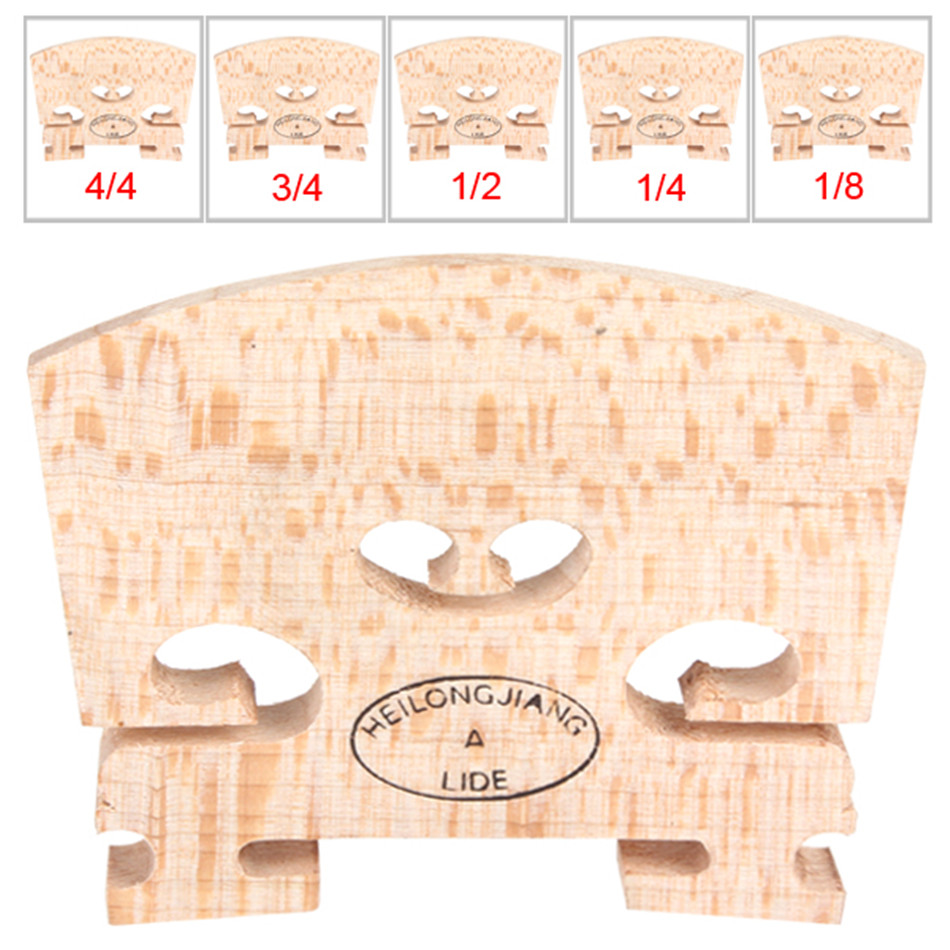 IRIN  High Quality Maple Wood Regular Acoustic Violin Bridge 1/8 & 1/4 & 1/2 & 3/4 & 4/4 Optional Sizes Durable Violin Bridge