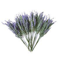 6x пряди, Искусственный Букет Лаванды, искусственная Лаванда, букет фиолетовых цветов лаванды, искусственные растения для свадьбы, домашнег...