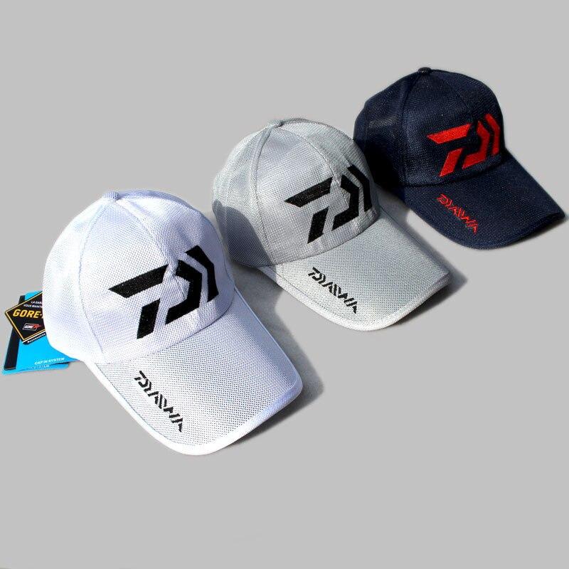 1PC 5 Colors Daiwa Sunshade Fishing Cap Outdoor Sport Baseball Fishermen Hat Couple Summer Hiking Cycling Pesca Mesh Hat