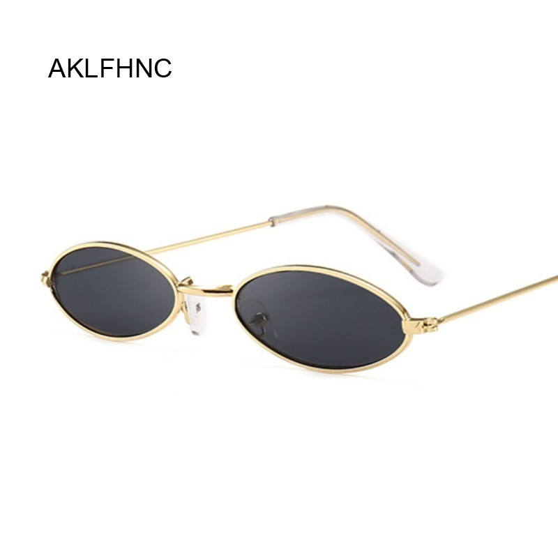 Hot Mens Women Retro Vintage Small Oval Sunglasses Metal Frame Shades Eyewear Gi