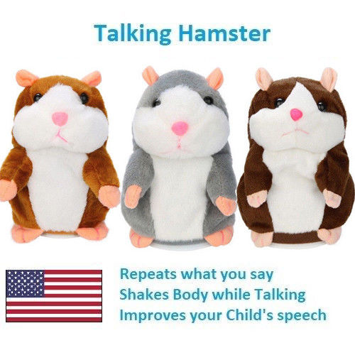 Cute Cheeky Hamster Talking Mouse Pet Christmas Toys Speak Sound Record Gift Mouse Pet Sound Nod Gift Children Plush