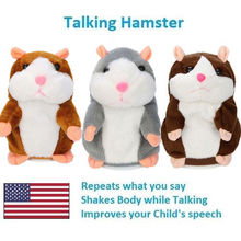 Cute Cheeky Hamster Talking Mouse Pet Christmas Toys Speak Sound Record Gift Mouse Pet Sound Nod Gift Children Plush cute magical jellyfish pet abs children learning toy christmas gift