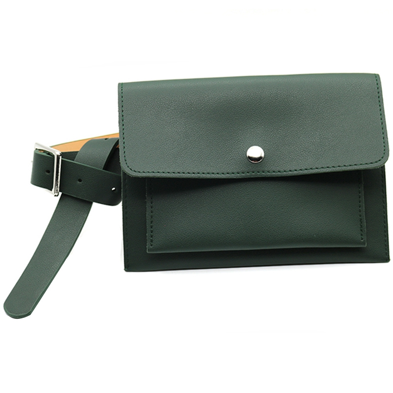 Classic Trendy Waist Bags Fashion Women Belt Pack Vintage Mini Bags Pu Leather Simple Casual Belt Bags