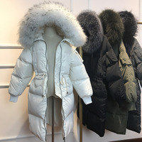 Autumn Winter 2018 New Pattern Han Banchao Down Jackets Self cultivation Thickening Loose Coat Down Jackets Girls Long Coat