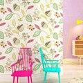 Обои из древесного волокна 3d для стен спальни гостиной современные печатные цветы листья Tapety Papel де Parede 3d окрашенные дизайнерские