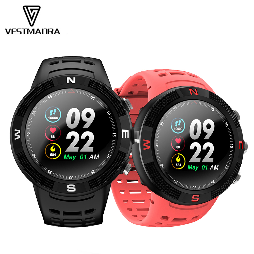VESTMADRA F18 En Plein Air GPS Positionnement Sport Montre Smart Watch Étanche Boussole Montre Message D'appel Rappel Coeur Taux Smartwatch