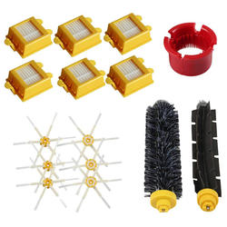 Набор кистей и 6 рычажных боковых кистей и воздушный фильтр для IRobot Roomba 600/700 серии