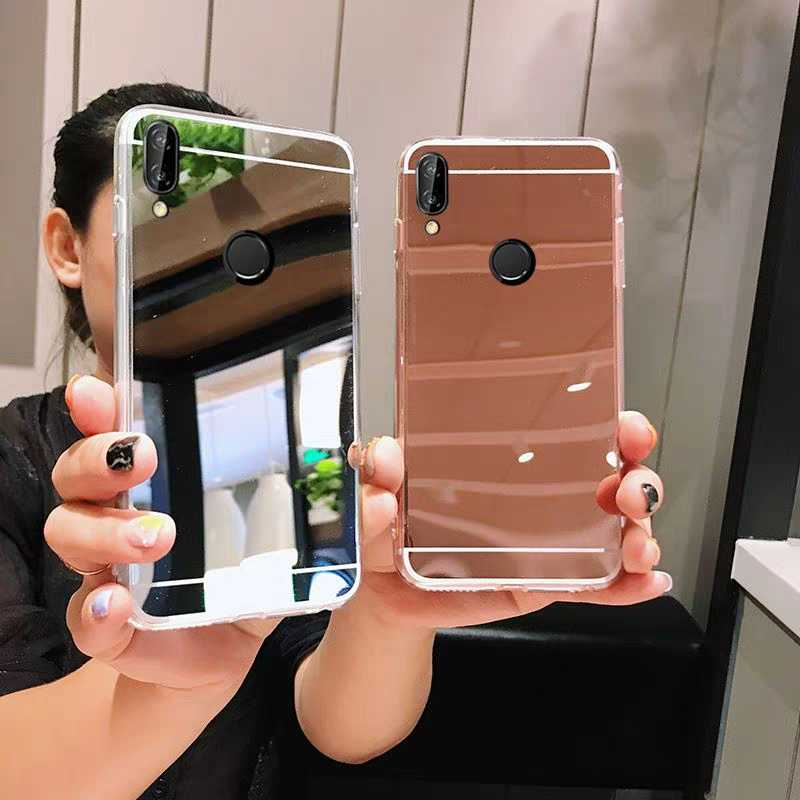 For Xiaomi Mi 8 A2 Lite 5X A1 6X Redmi 6 6A 5A 5 plus S2 Note 7 6 5 Pro 4X 4 5A SoftSoft Silicone  Cover Full  Mirror Phone Case