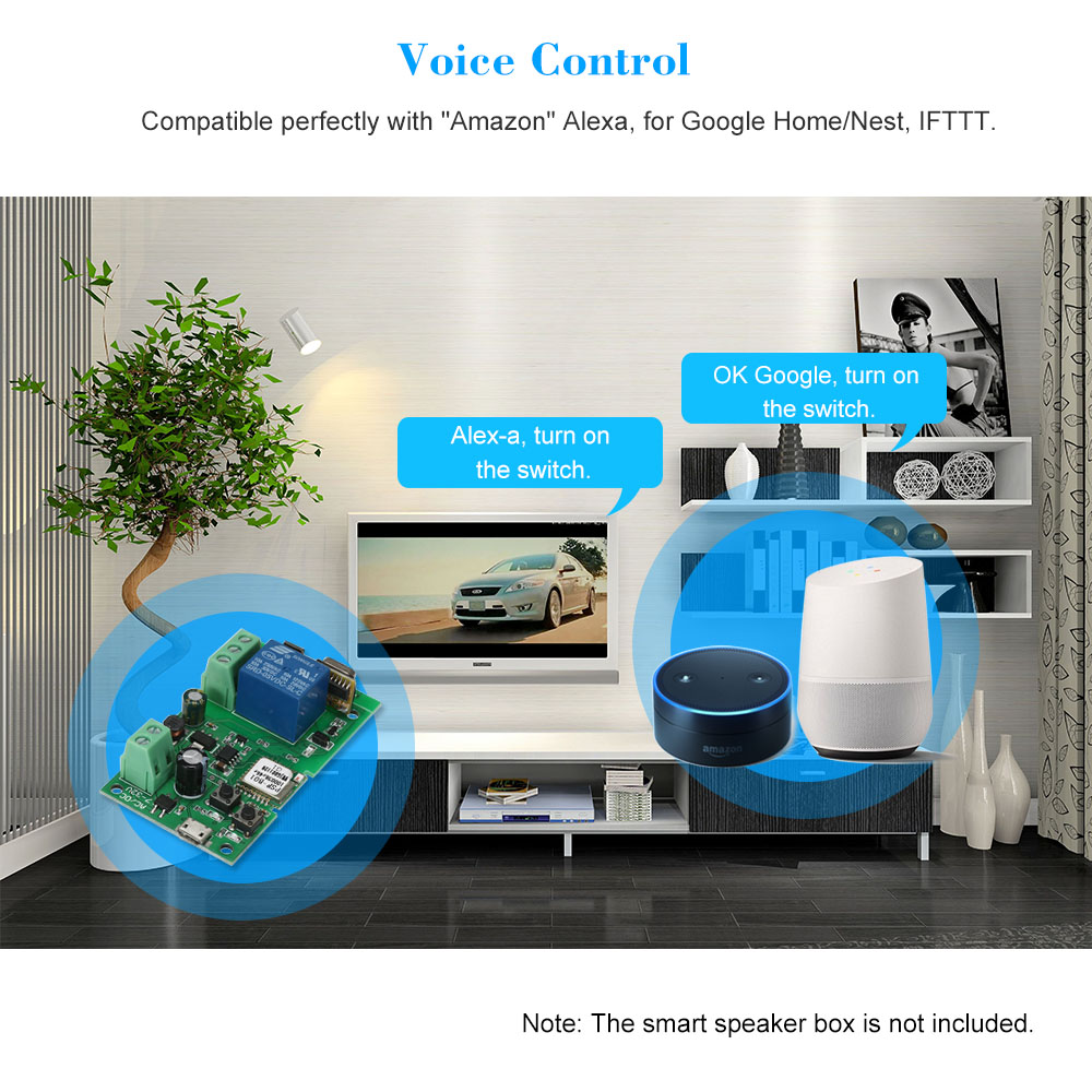 Sonoff Usb Dc5v 12v 24v 32v Rf 433mhz Wifi Switch Wireless Relay Box Module App Remote Control Smart Home Automation Modules In