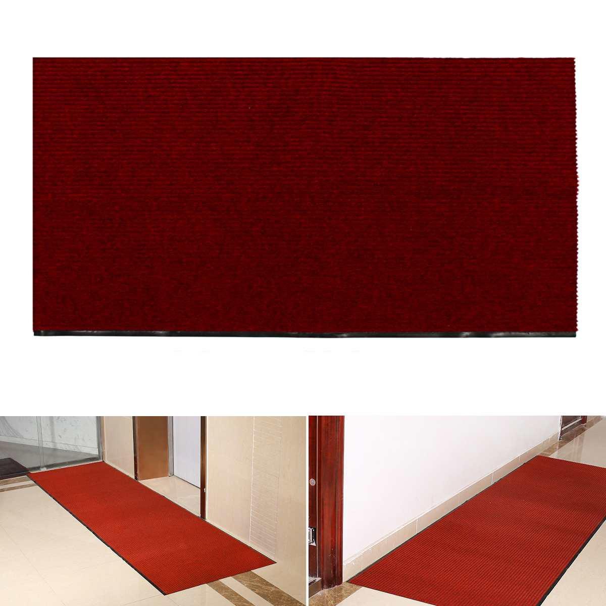 PVC anti-dérapant zone tapis salle à manger tapis salon chambre tapis maison plancher tapis décoration Textile vin-rouge 200 cm/100 cm