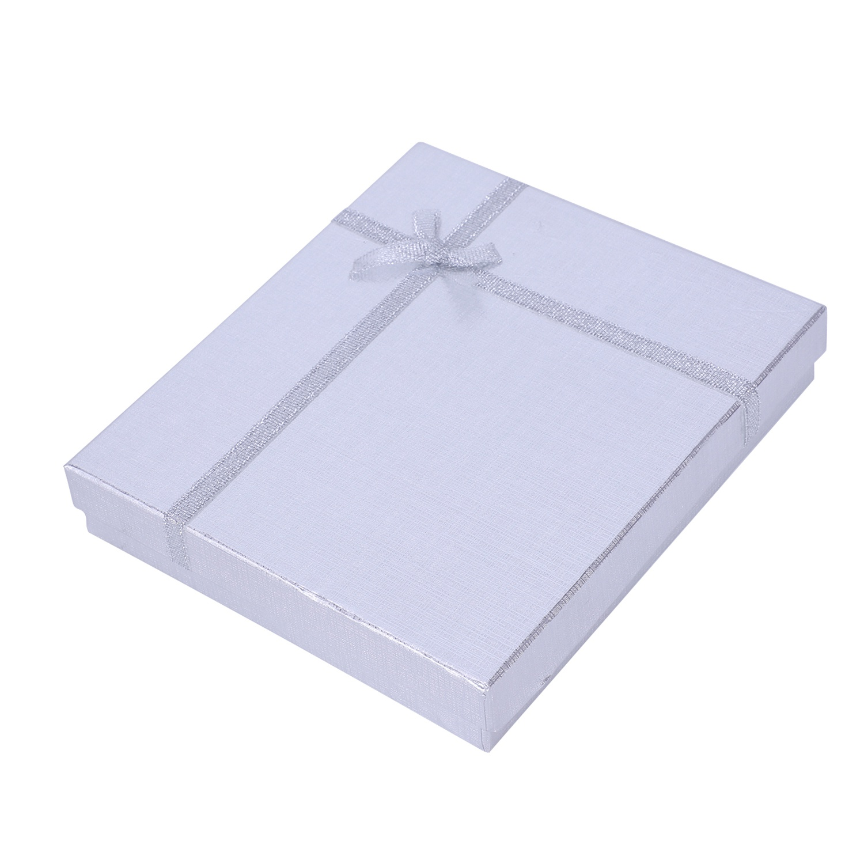 16x12x3.2cm Gift Box Necklace Box Pendant Box Jewelry Box Colour:silver