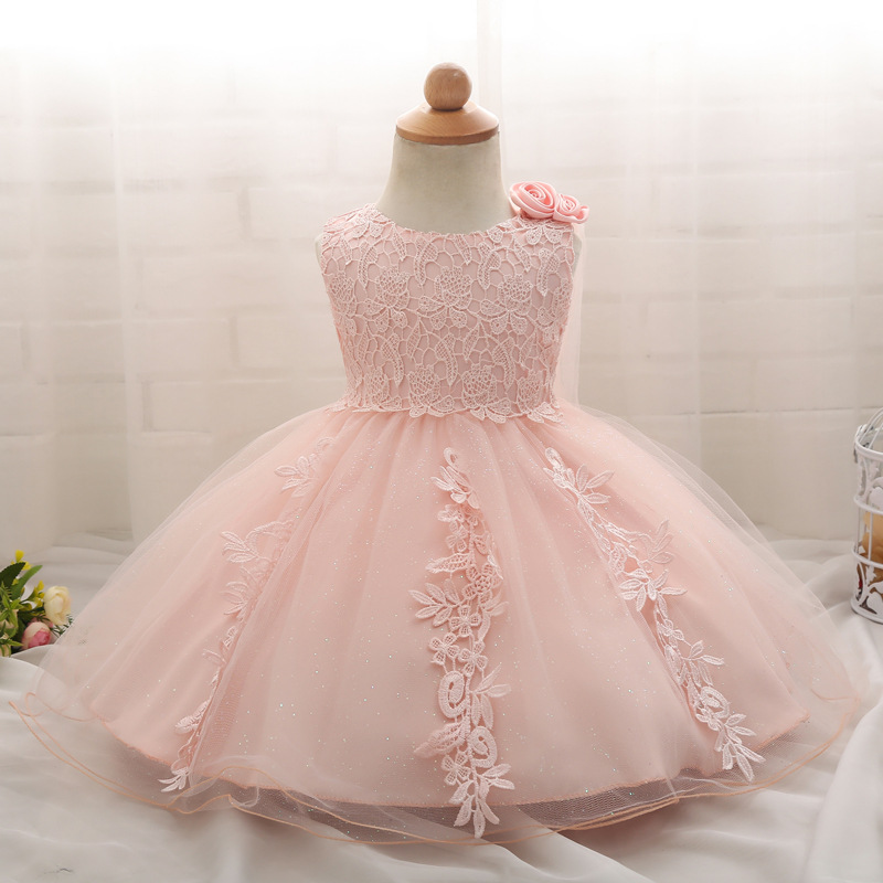 99ed187f1 Newborn 1 Year Birthday Dress Baby Kids Clothing Lace Christening Ball Gown  Toddler Petals Decoration Event Party Flower Dress-in Dresses from Mother    Kids ...
