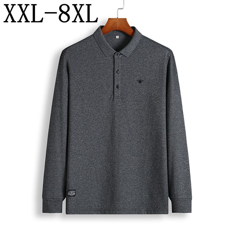 Plus Size 6XL 7XL <font><b>8XL</b></font> <font><b>Polo</b></font> <font><b>Shirt</b></font> <font><b>Men</b></font> New Autumn Winter Brand <font><b>Men's</b></font> <font><b>Polo</b></font> <font><b>Shirt</b></font> Long Sleeve Casual Male <font><b>Shirt</b></font> <font><b>Mens</b></font> <font><b>Polo</b></font> <font><b>Shirts</b></font> image