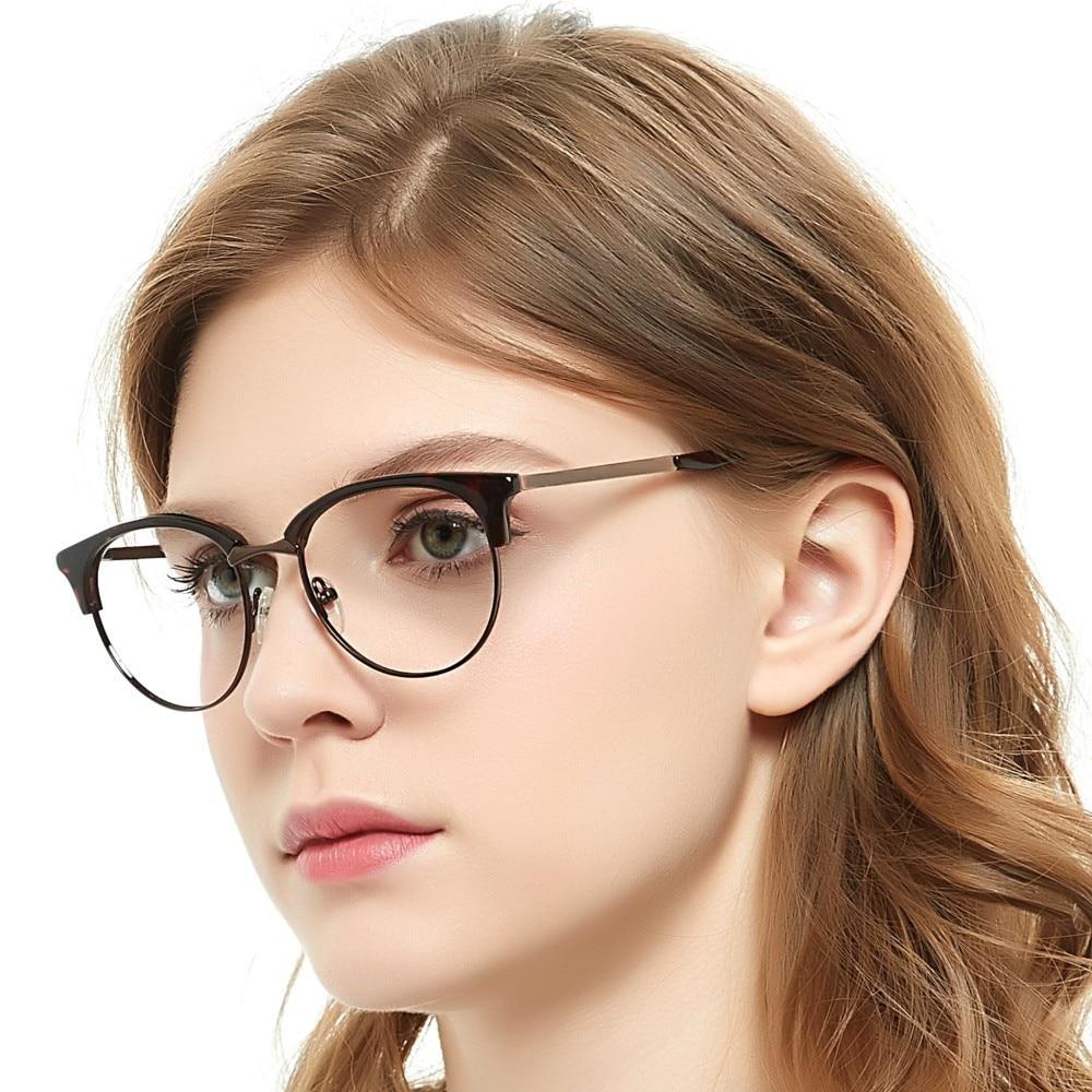 OCCI CHIARI Clear Glasses Retro Style Stainless Steel Metal Eyeglasses Eyewear Glasses Myopia Eyeglasses Frame Women Men Zein