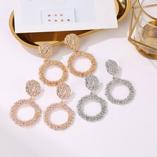 цены New Fashion Women Round Wedding Jewelry Gold/Silver/Rose Gold Party Earrings Trendy Elegant High-Grade Stud Earrings