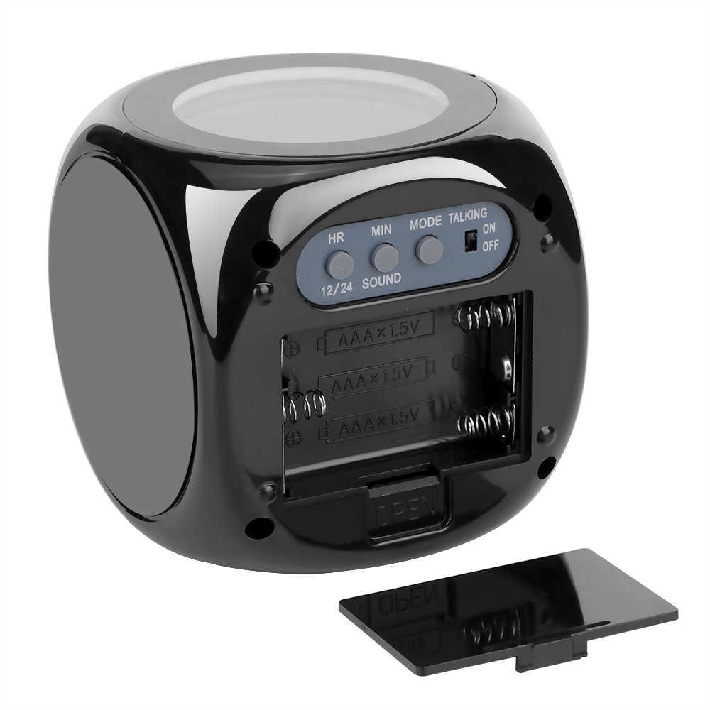 1 pc משולב LCD הקרנה מדבר שעון מעורר זמן וטמפ תצוגת בחדר שינה סלון